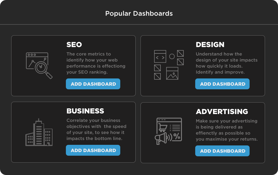 Curated dashboards