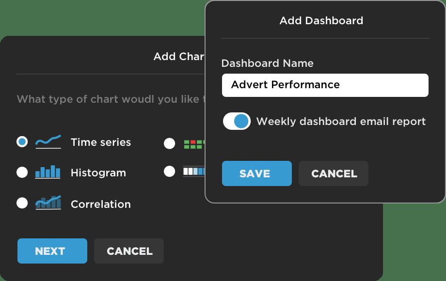 Custom dashboards