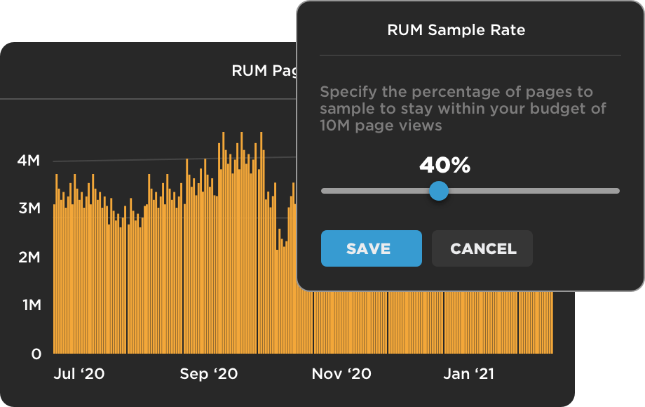 RUM Sample Rate